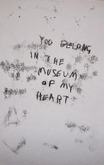 You Belong in The Meseum of My Heart